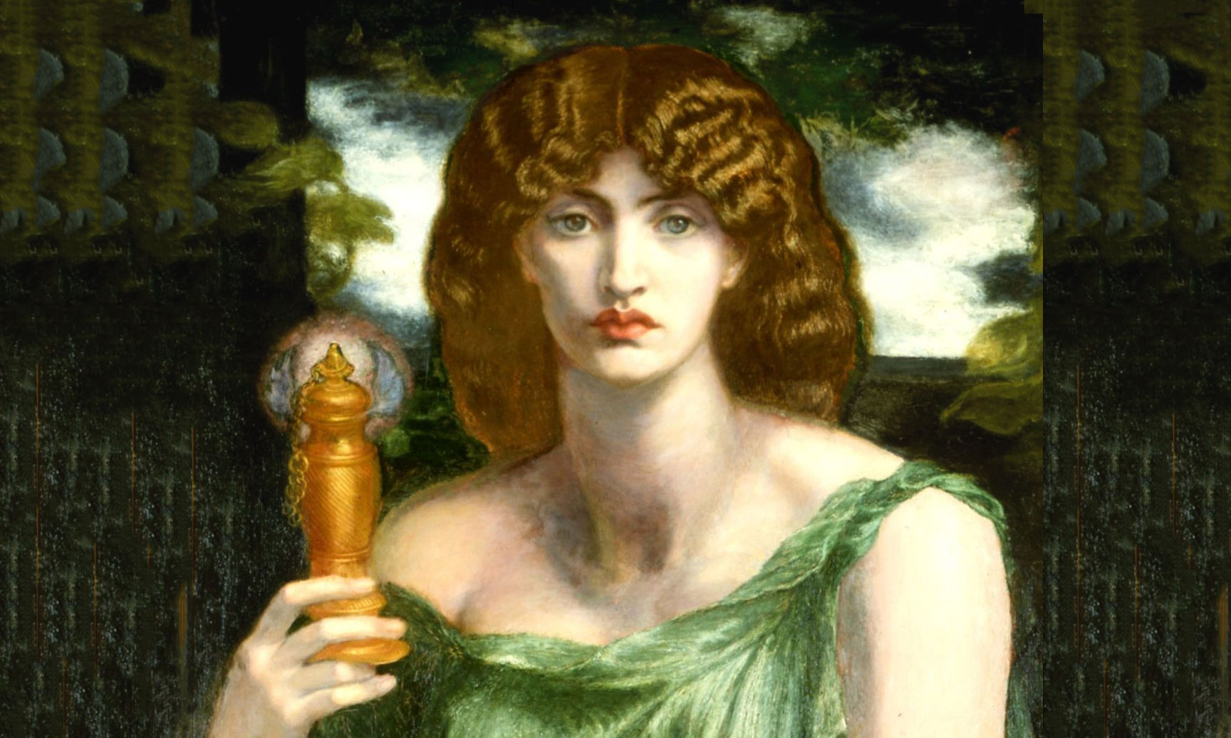 Mnemosyne (aka Lamp of Memory or Ricordanza), c. 1876 to 1881, by Dante Gabriel Rossetti